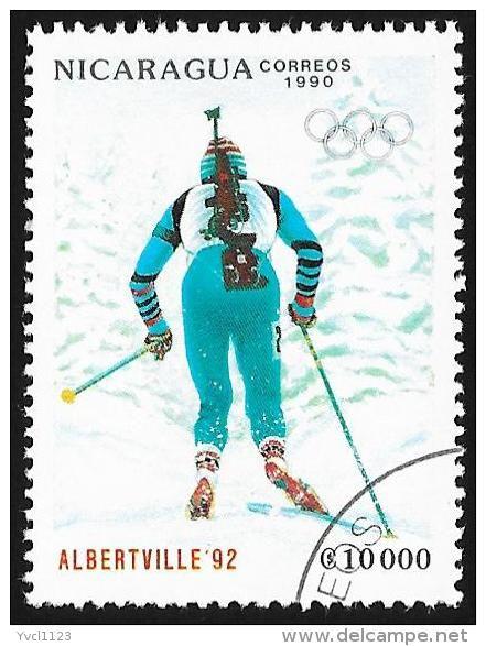NICARAGUA - SW3070 Albertville '92 Winter Olympic Games, Biathlon (*) / Used Stamp - Delcampe.com