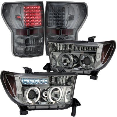 Toyota Tundra 2007-2012 Smoked Projector Headlights and LED Tail Lights