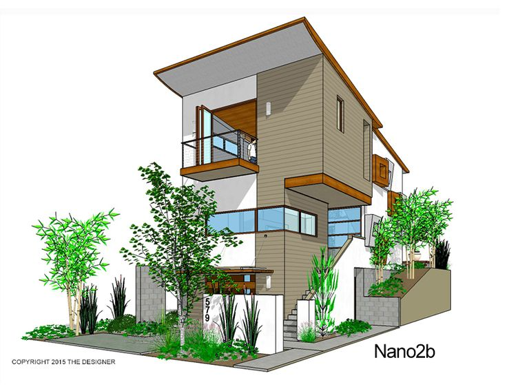9 best narrow lot house designs images on pinterest for Residential house plans and designs