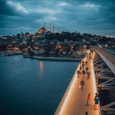 İstanbul #haliç #mosque #railroad