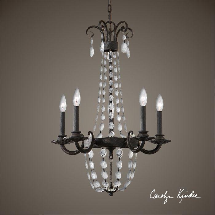 uttermost icelandia 5 lt chandelier 21374 - Uttermost Lights