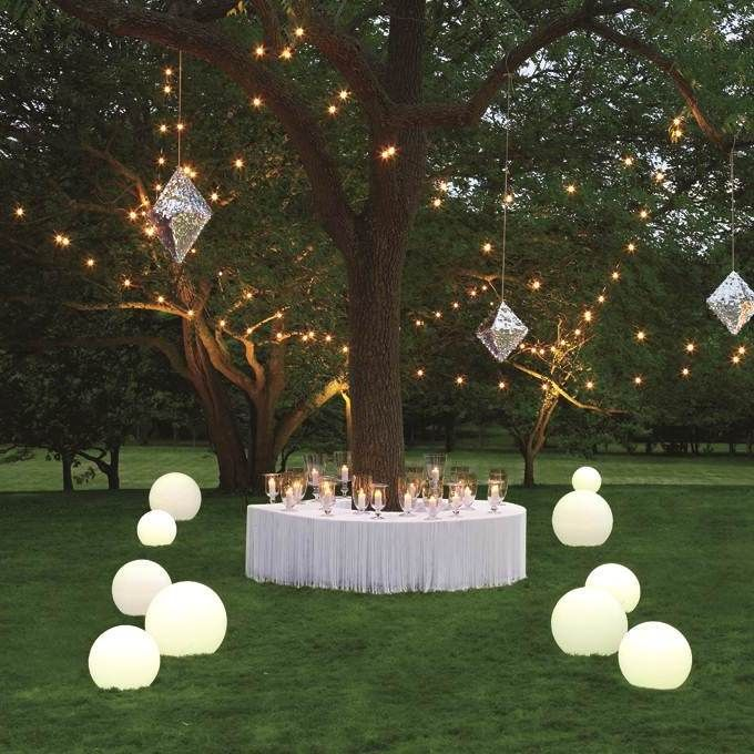 "diy lighting ideas | Diy Lighting Ideas For Modern Outdoor Wedding Ceremony... WHATCHA THINK PLEASE? ""YOU LIGHT UP MY LIFE""... PLEASE BE SAFE & BE SURE THAT THE BULB IS THE PROPER SIZE AS ""NO ONE NEEDS A FIRE TO START""!"