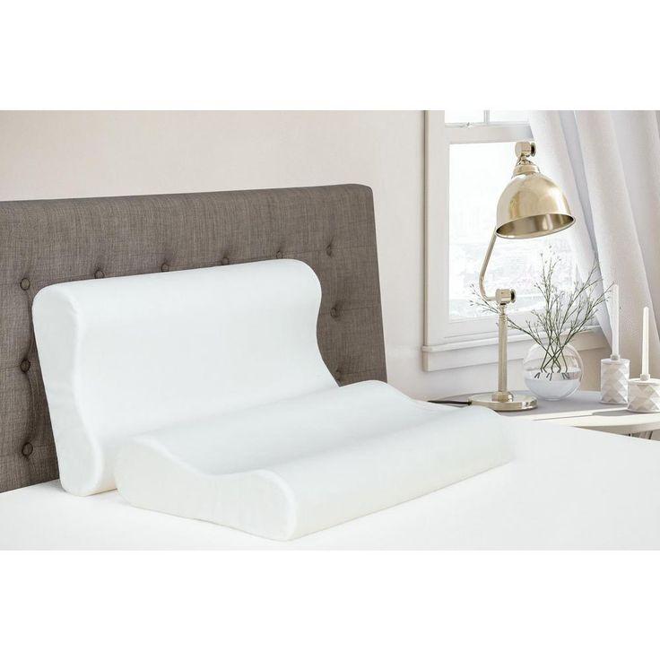 CertiPUR-US Contour Memory Certified Foam Standard Size Pillow, White