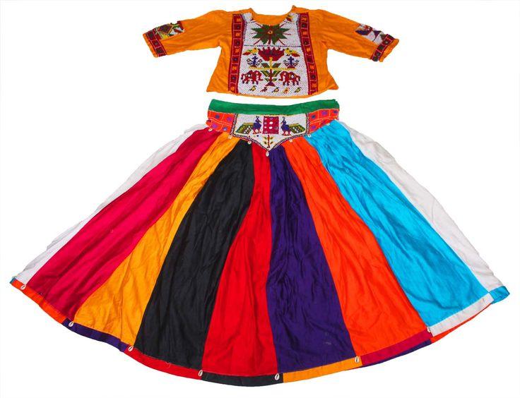 Vintage kutch rabari banjara garba dance indian traditional hand embroidery lehnga choli set by Vintageethnicindian on Etsy