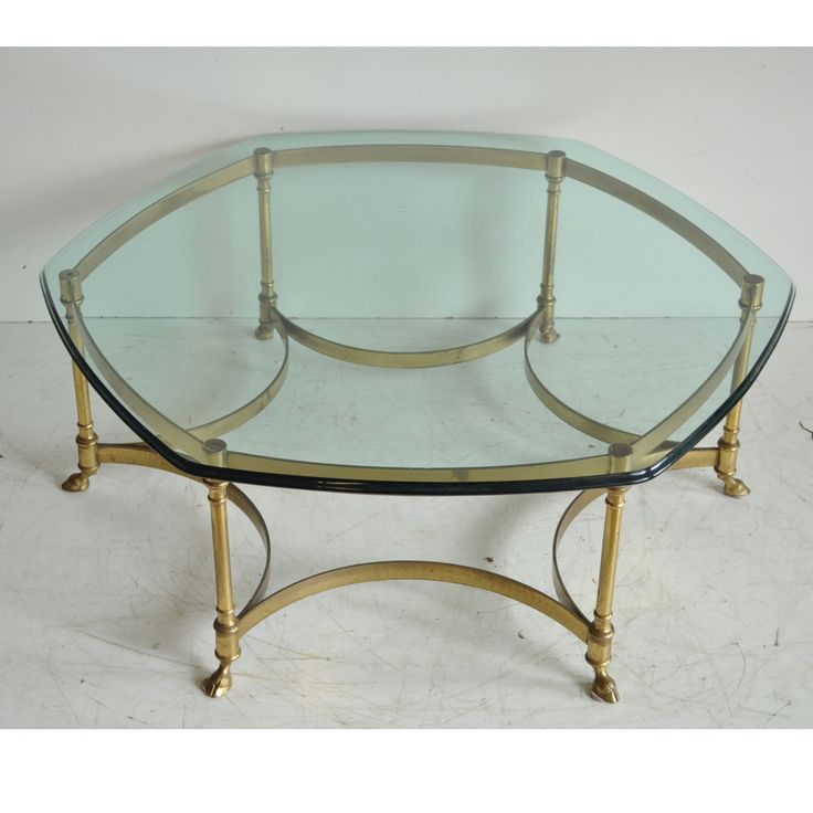 Silver Studded Coffee Table: Details About Vintage Labarge Brass Hoof Foot Hollywood