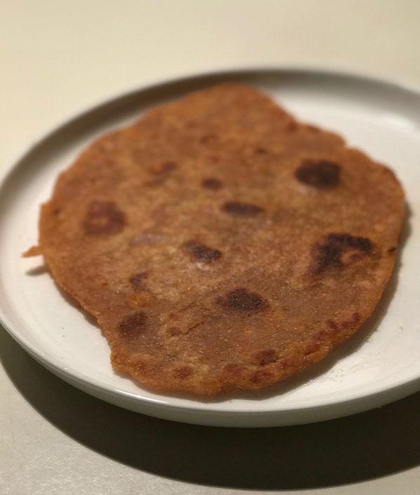 Sweet Potato + Wholemeal Spelt Paratha Flatbreads