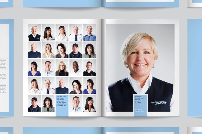 Westjet annual report #spreads