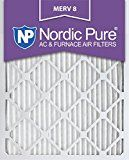 Nordic Pure 20x25x1M8-6 MERV 8 Pleated AC Furnace Air Filter 20x25x1 Box of 6