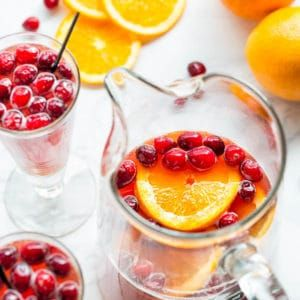 Orange Cranberry Spritzer - deliciously refreshing mocktail with Schweppes Ginger Ale that's just as fancy as any cocktail.