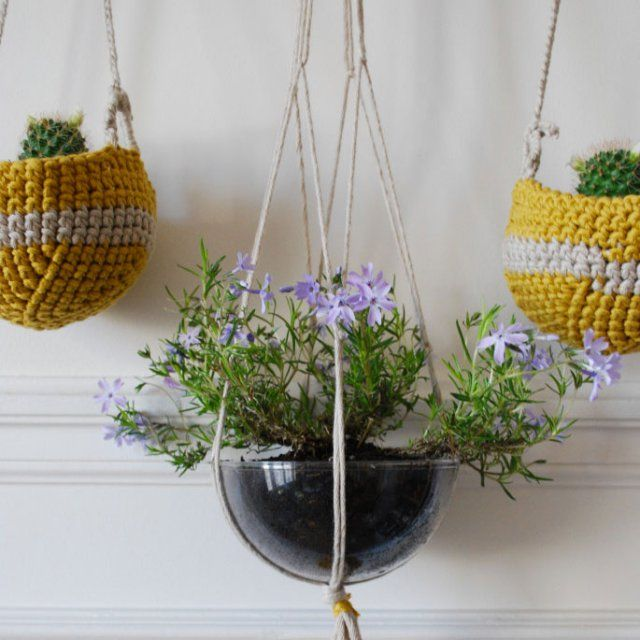 20 id es pour suspendre ses plantes diy pinterest suspension pour plante crochet diy et. Black Bedroom Furniture Sets. Home Design Ideas