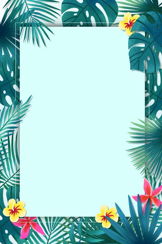 Summer Tropical Background : summer, tropical, background, Fresh, Tropical, Plants, Border, Background, Summer, Artsy, Background,, Beautiful, Abstract