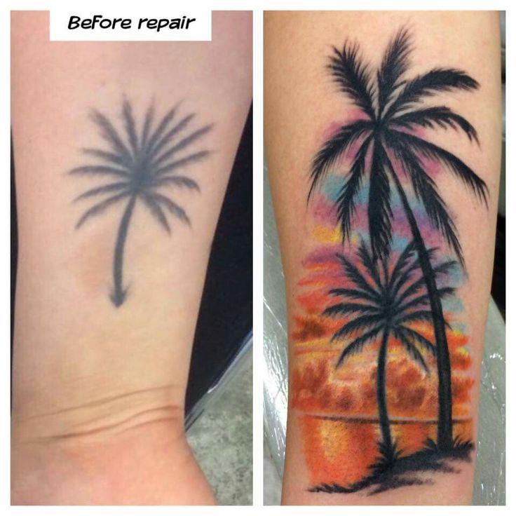 palm trees tatoo pinterest palmen tattoos arm tattoo und tattoo ideen. Black Bedroom Furniture Sets. Home Design Ideas