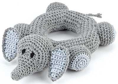 Into the Jungle Crochet Baby Toy elephant