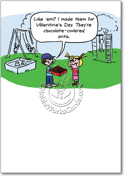 Chocolate Covered Ants Funny Valentines Day Card