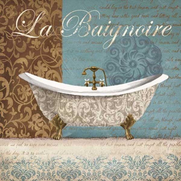 Gravura Banheiro - LA BAIGNOIRE | Posters e Gravuras de Banheiro e Até 50 x 70| Pictus.com.br