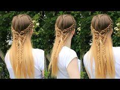 Half Down Butterfly Hairstyle | Pinterest inspired Tutorial | Braidsandstyles12 - YouTube