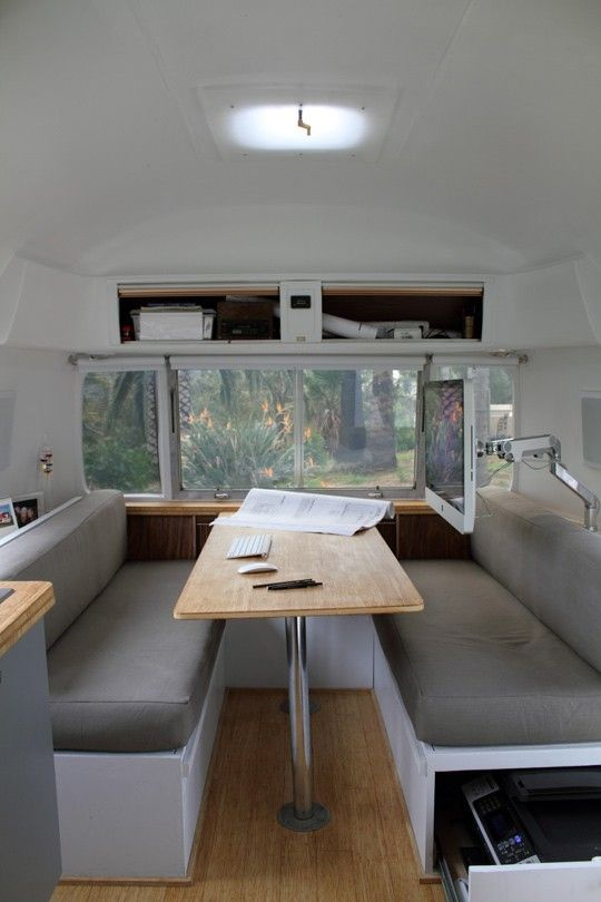 1000 Images About Airstream Dinette Front Bed On