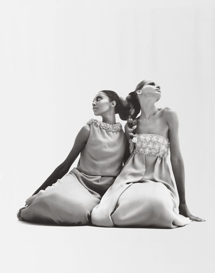 Veruschka & Donyale In Valentino. 1960s