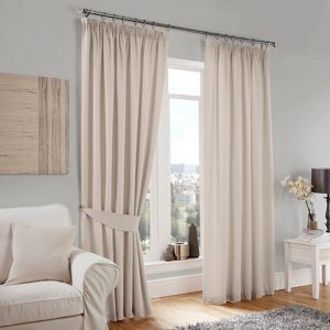 Curtina Lincoln Cream Lined Pencil Pleat Curtains- at Debenhams Mobile