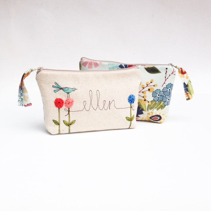Personalized Makeup Bag, Women's Gift, Custom Made Cosmetic Bag, Unique Wedding Party Gift, MADE TO ORDER MamaBleuDesigns by MamaBleuDesigns on Etsy https://www.etsy.com/listing/267153549/personalized-makeup-bag-womens-gift