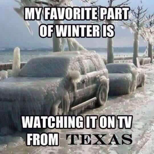 I'll take my snow during our Colorado Christmas visits otherwise I'm happy to watch from home! Love Texas winters!