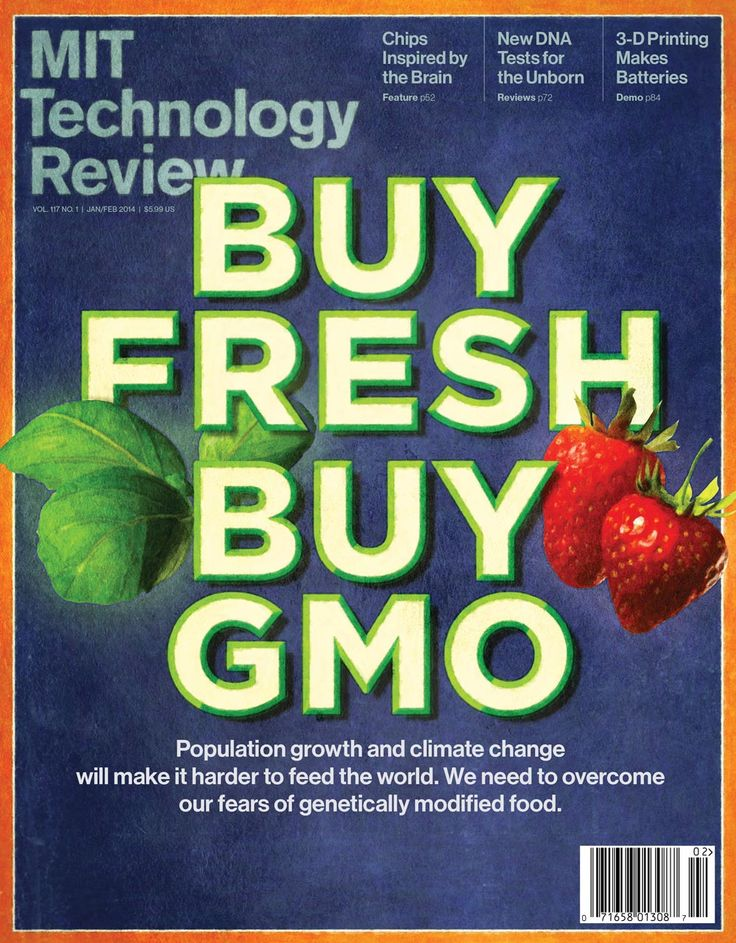 """""""Buy Fresh Buy GMO"""" Cover of MIT Technology Review: January/February 2014"""