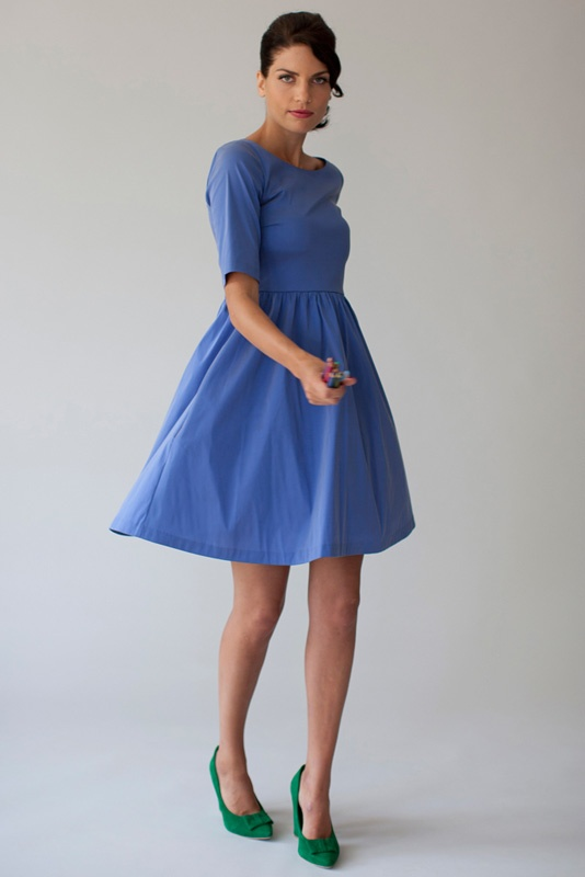 Dress Maria in stretch taffeta