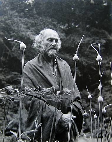 Imogen Cunningham's photograph of Morris Graves in his leek garden