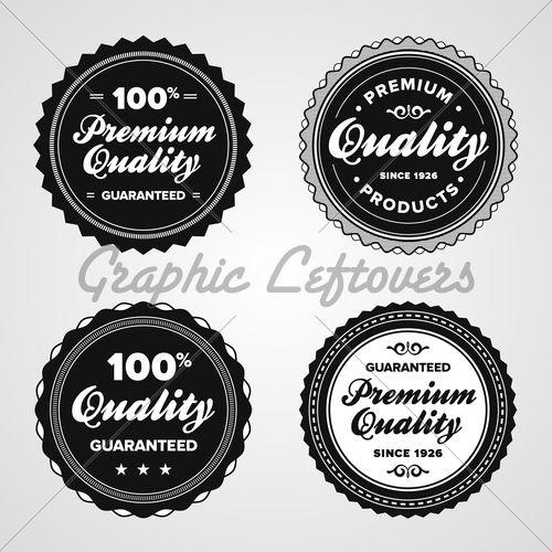 Vintage Premium Quality BadgesVintage Premium, Vintage Badges, Retro Premium, Quality Badges,  Hockey Puck, Graphics Vintage, Graphics Design, Vintage Retro, Premium Quality
