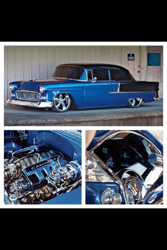 ☮ American Hippie Hot Rod ~ 55 Chevy