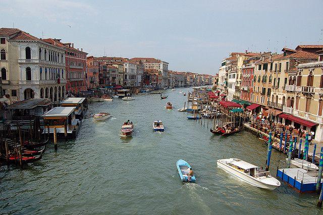 In barca sul Canal Grande di Venezia