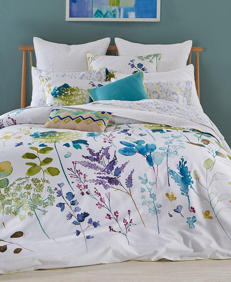 bluebellgray Botanical Garden 3-Pc. King Comforter Set - Bedding Collections - Bed & Bath - Macy's