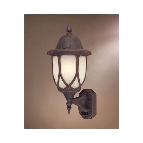 Designers Fountain 2868MD-AG 1 Light 9 Cast Aluminum Wall Lantern with Motion Detector, Gold