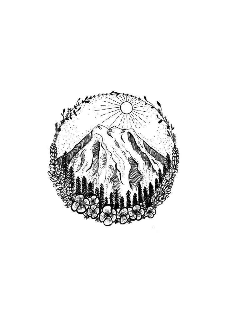 Mountain tattoo design