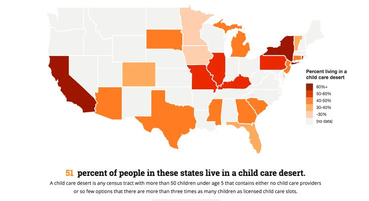 A new report from the Center for American Progress finds that more than half of Americans across 22 states live in 'Child Care Deserts.' Enter your address to see whether you live in one of these Child Care Deserts.