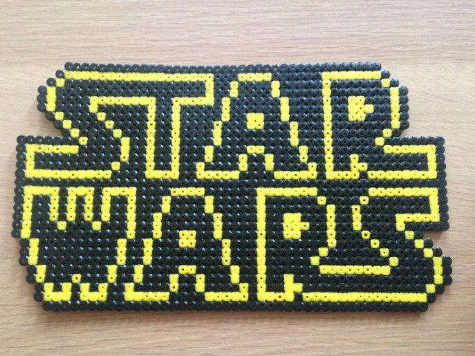 Star Wars Logo Hama Perler Beads By ElisPixelCraft