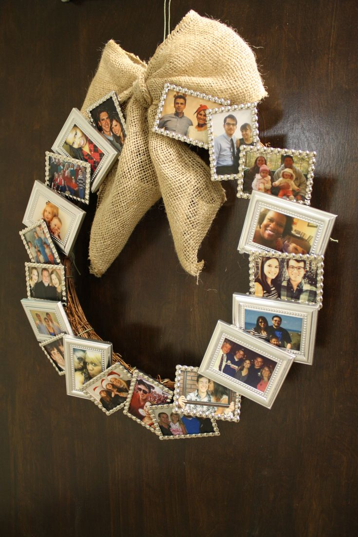 DIY upcycled wreath using photo frames #kateaspen