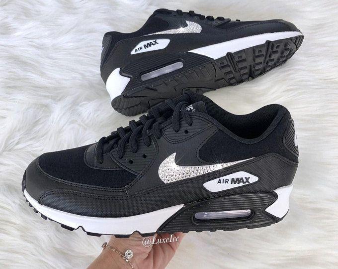 Renunciar Ananiver aire  Nike Air Max 90 LX terciopelo-partícula rosa/gris/blanco | Etsy | Nike air  max, Swarovski nike, Nike air max 90