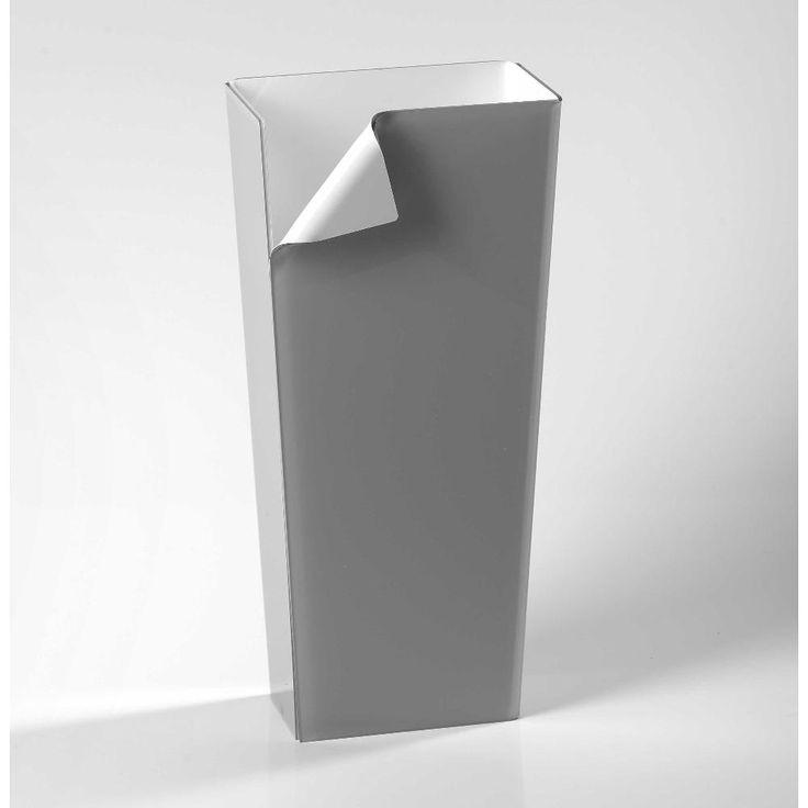 Portaombrelli 30x28xh52 cm SNAKE in plexiglas bicolore e vaschetta raccogli acqua in alluminio | Vesta | Stilcasa.Net: porta ombrelli