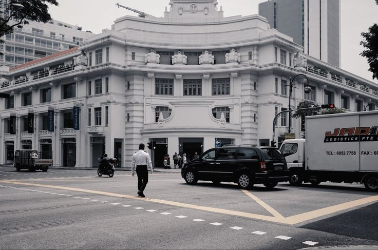 Traffic control during the state funeral of Singapore's ex president S R Nathan #Singapore #ATWSingapore #streetphotography #city #people #police #car
