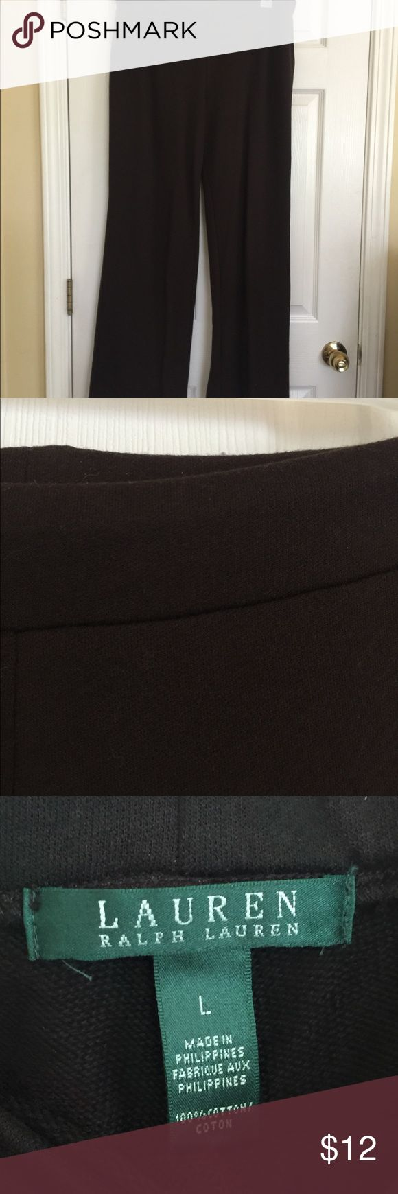 """Ralph Lauren Soft brown pants Very soft and stretchy all over. Wide waist band for mobility comfort and smoothness under tops.  Inseam 31"""" Lauren Ralph Lauren Pants Trousers"""