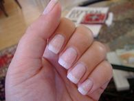 170039 French Manicure Glitter Nails #nailartdesigns #nails #nailart #naildesign #beautifulmanicure #manicure