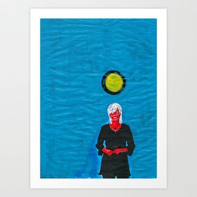 Grip kontanter med begge hender (I) Art Print by Plasmodi - $21.00