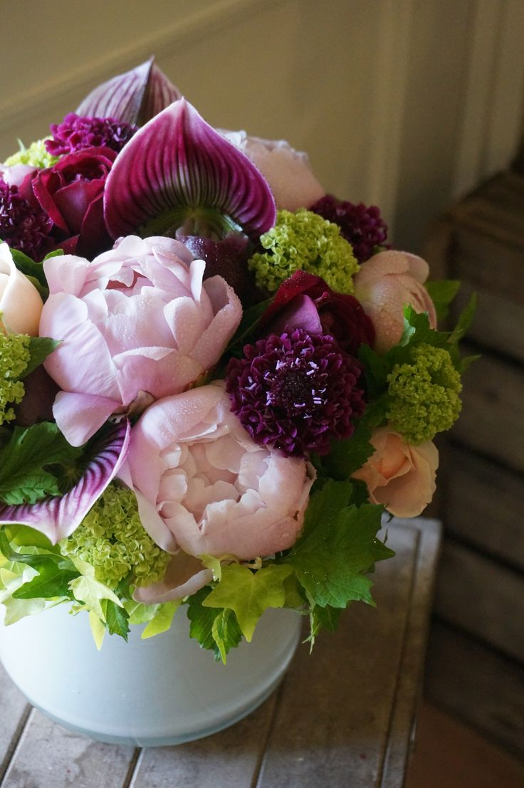 peony and orchids
