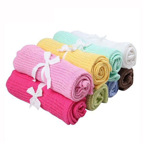1pcs 80x100cm Knitting Baby Blanket 100 Cotton Newborn Bedding Swaddle Cartoon Crothet Towel Infant Nursling Breathable For Kid Yesterda Cotton Baby Blankets Knitted Baby Blankets Newborn Bed