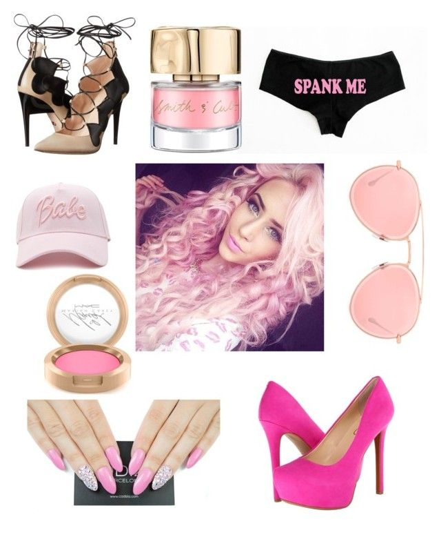 """Pink"" by caitlinashcraft on Polyvore featuring Jessica Simpson, Ruthie Davis, Forever 21, Smith & Cult, MAC Cosmetics and Dita"
