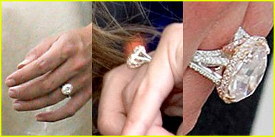 Katie Holmes' ring is cool. It's mostly white gold with a little accent of rose gold.