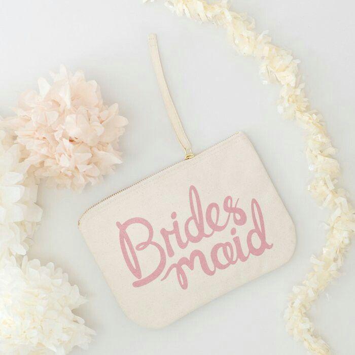 Een van de cadeautjes voor onze bruidsmeisjes.