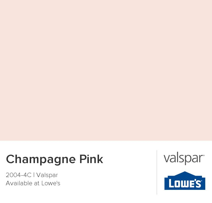 Champagne Pink from Valspar. The color for Evie's room.