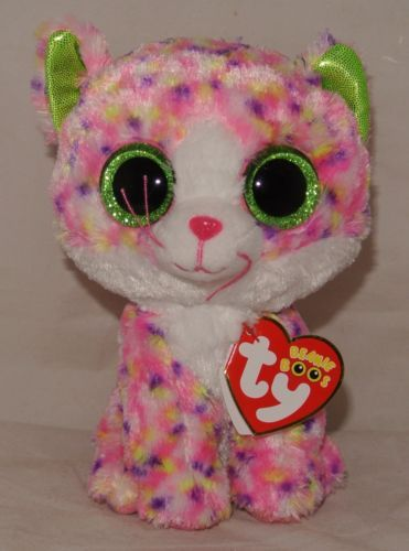 NEW-2015-TY-Beanie-Boos-SOPHIE-the-Pink-Cat-6-IN-HAND-USA-Seller ... f9f84fde620